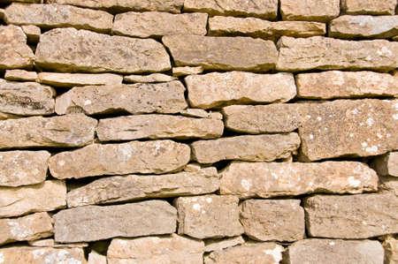 ochre: Rustic Ochre Dry Stone Wall