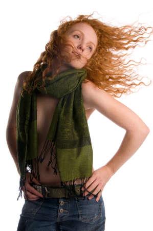libertine: Arty Fun-loving Red Haired Libertine  Stock Photo