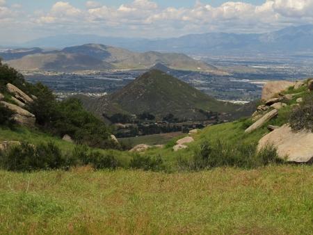 top of mountain view Banco de Imagens
