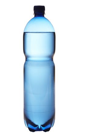 plastic bottle: Isolated water bottle