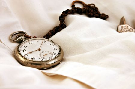 Pocket watch on the shirt photo