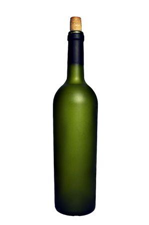 Isolated wine bottle photo