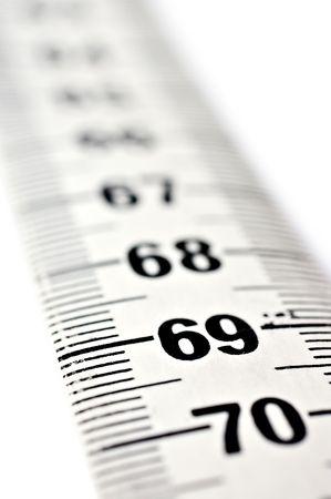 metre: Measuring tape close-up