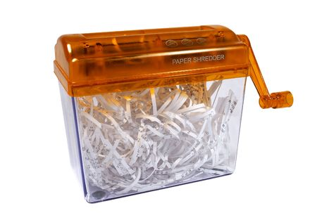 roughage: Paper shredder isolated