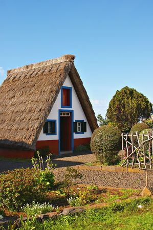 thatched cottage: Madeira islands traditional thatched cottage