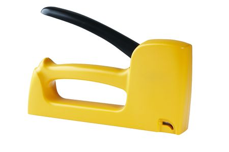 Yellow stapler isolated Stock fotó