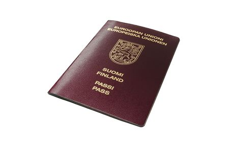 finland�s: Finland�s estilo antiguo pasaporte (no biom�tricos)  Foto de archivo