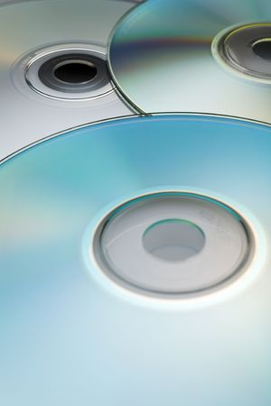 Digital discs background (cd cdr and dvd) Stock Photo