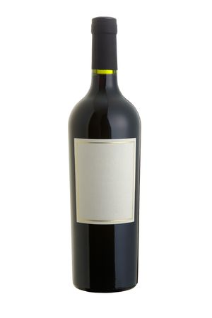 Isolated red wine bottle  Stock Photo