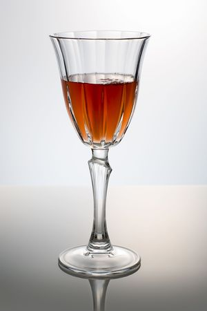 classic red wine glass over a light background Stock Photo - 2713160