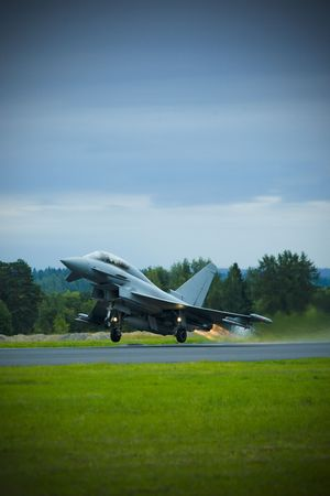bombing: Eurofighter typhoon taking off from Finnish airport