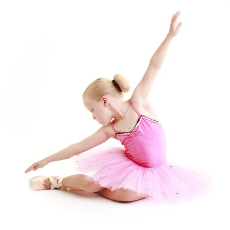 Young ballerina dancer over a white background Stock Photo - 3436306