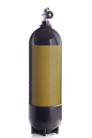 zylinder: Tauchen Luft Tank �ber wei�em Hintergrund Lizenzfreie Bilder