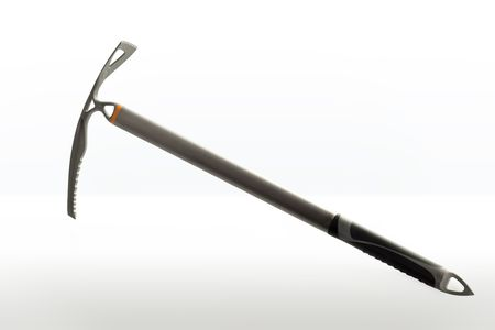 Modern ice peak axe over a white background Stock Photo