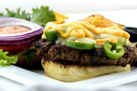 prime rib: Jalapeno burger topped with spicy Aioli