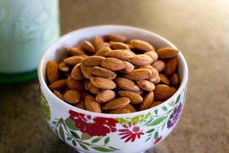 Bowl of Almonds Stok Fotoğraf