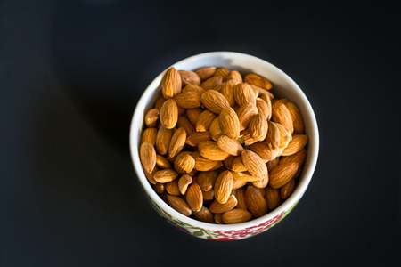 Almonds top view