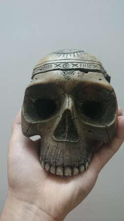 ashtray: Skull ashtray Stock Photo