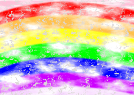 speckles: Background in rainbow colors with white and silver speckles