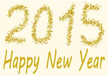 turns of the year: Feliz A�o Nuevo 2015 - los n�meros de 2015 est�n escritos en lentejuelas de oro Foto de archivo