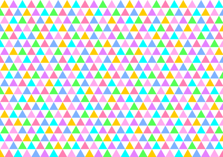 offset: Colorful triangles alternately set offset in rows in a landscape format Illustration