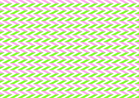 herring: Herring bone pattern in pink and lime in a landscape format