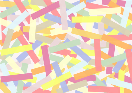 crisscross: Rectangles in Candy Colors crisscross stacked in a landscape format