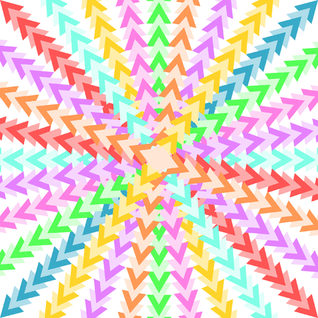 quadratic: Colorful triangles forming a star-shaped pattern in a quadratic format