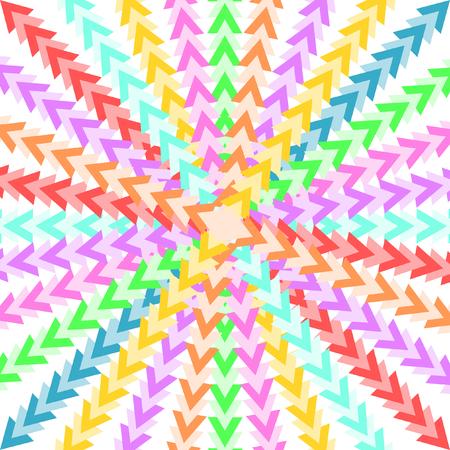 quadratic: Triangoli colorati che formano un modello in un formato quadratica a forma di stella
