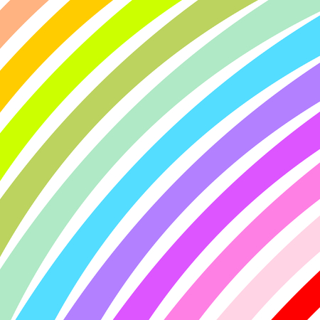 diagonally: Curved colorful wide strips diagonally in a square format