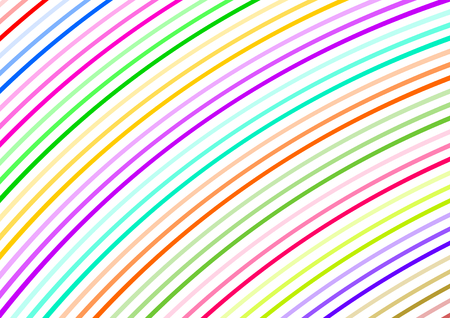 diagonally: Curved colorful small strips diagonally in a landscape format Illustration