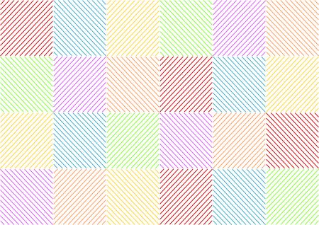 oppos: Arri�re-plan avec des rayures color�es face au carr� dans un format paysage Illustration