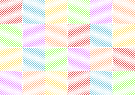 opposite: Background with colorful stripes opposite squared in a landscape format