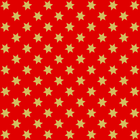 Golden stars offset on red background in square format Çizim