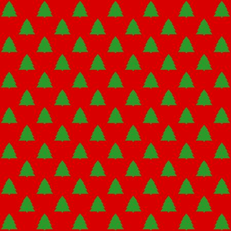 quadratic: Compensados ??en fondo rojo en el formato cuadrado abetos verdes