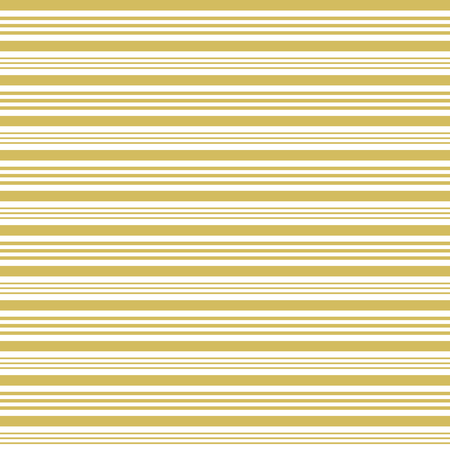 horizontally: Golden and white stripes in different widths horizontally in square format