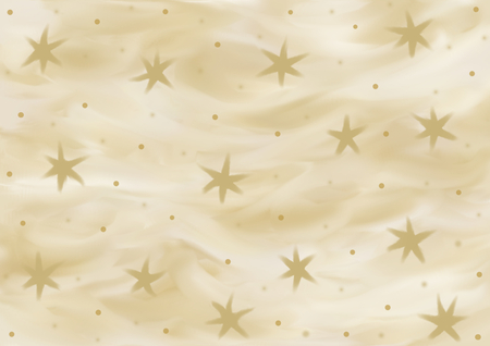 landscape format: Background in various shades of gold with stars painted in landscape format