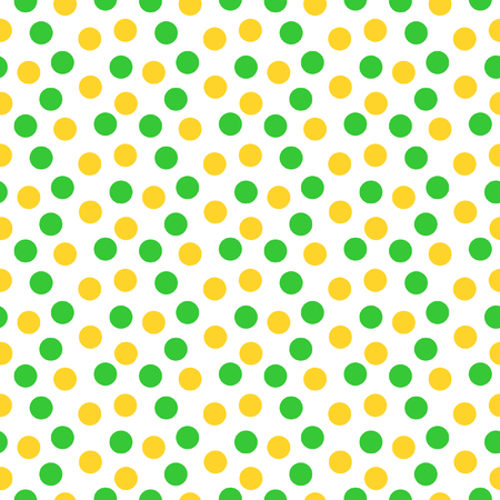 Orange and green circle in seamless pattern on a white background in the square format