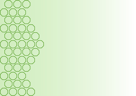 Green outlines of rectangles on the left side on a green gradient and with a large copy space on the right Stock Photo