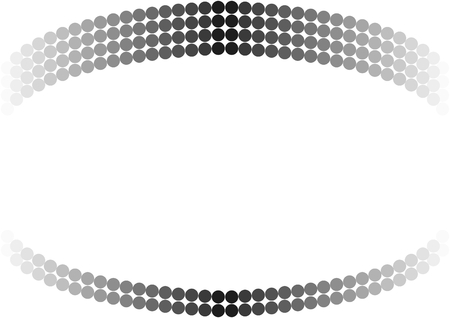 Black dots in the course to white in half arches at top and bottom