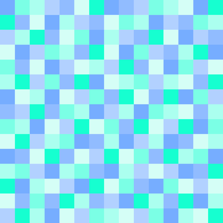 rows: Squares in marine colors set gapless in rows in a square format