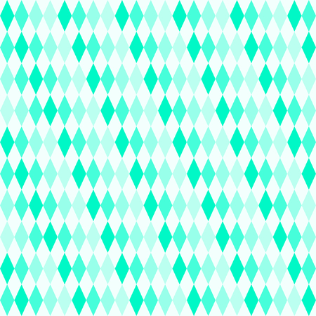 rows: Diamonds in 4 different shades of turquoise staggered in rows in a square format Illustration