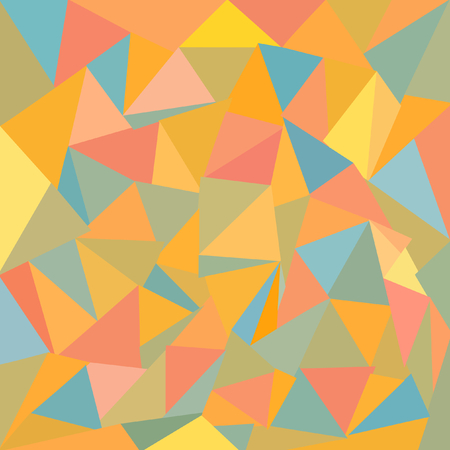 triangulum: Individually drawn colorful triangles in a square format