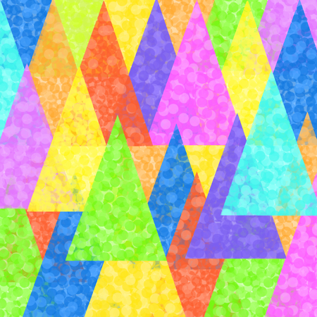 triangulum: Colorful painted triangles superimposed in square format