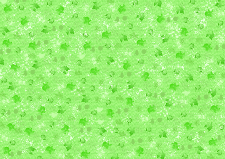 Different green color blots on green background with structure