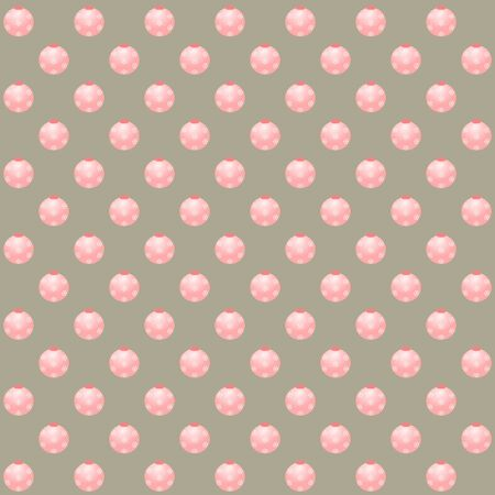 Pink christmas balls on silver background in square format