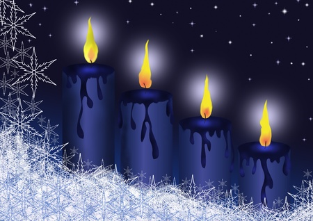 advent candles: advent Stock Photo