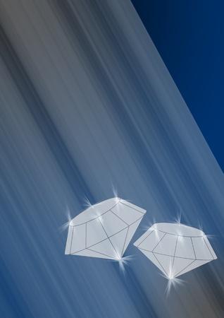Diamonds on a blue background Stock Photo - 13557411