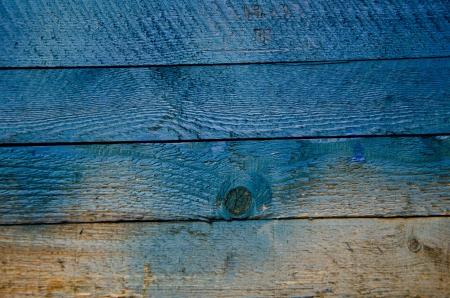 knothole: Blue crate of wood Stock Photo
