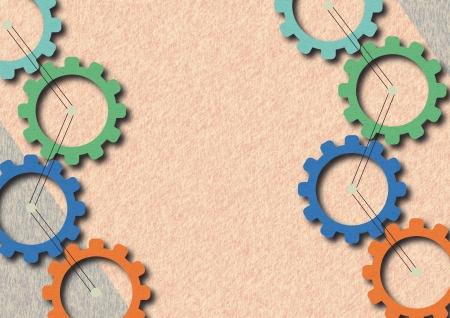 gearwheels: Colorful gearwheels